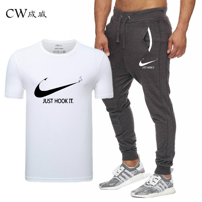 HTB18arpiu3tHKVjSZSgq6x4QFXaM 2019 Quality Men T Shirt Sets+pants men Brand clothing Two piece suit tracksuit Fashion Casual Tshirts Gyms Workout Fitness Sets