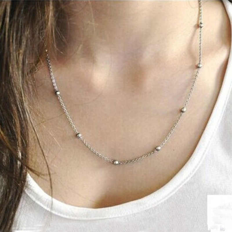 Oulai777 2019 stainless steel gold chain choker necklace gifts for women best friends beads new year necklace female accessories