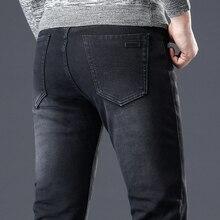 Black Jeans MenS Winter Jean Homme Warm Masculina High Quality Pants Pantalon Hombre Vaquero Man Slim Fit Stretch Spijkerbroek
