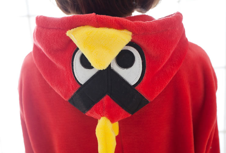 Pájaro rojo Onesies de dibujos animados pijamas Animal disfraz de - Disfraces