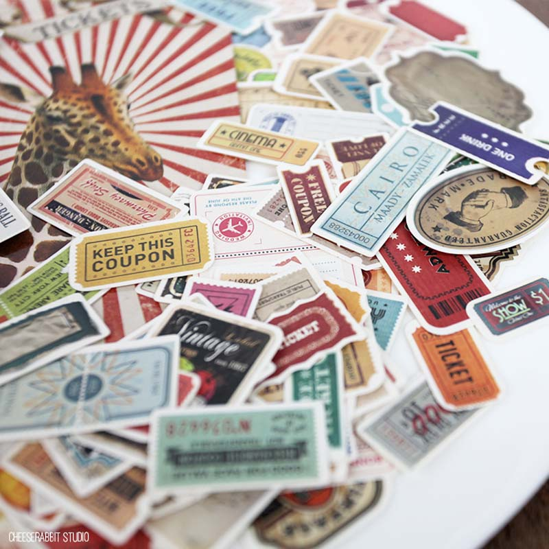 US $4 58 |KLJUYP 140pcs Tickets for each country Cardstock Die Cuts for  Scrapbooking Happy Planner/Card Making/Journaling Project-in Stickers from