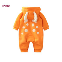 2017 Baby Romper Autumn Winter Newbron Boy Girl Jumpsuit Cotton Plus Thick Baby Cloth with Animal Style