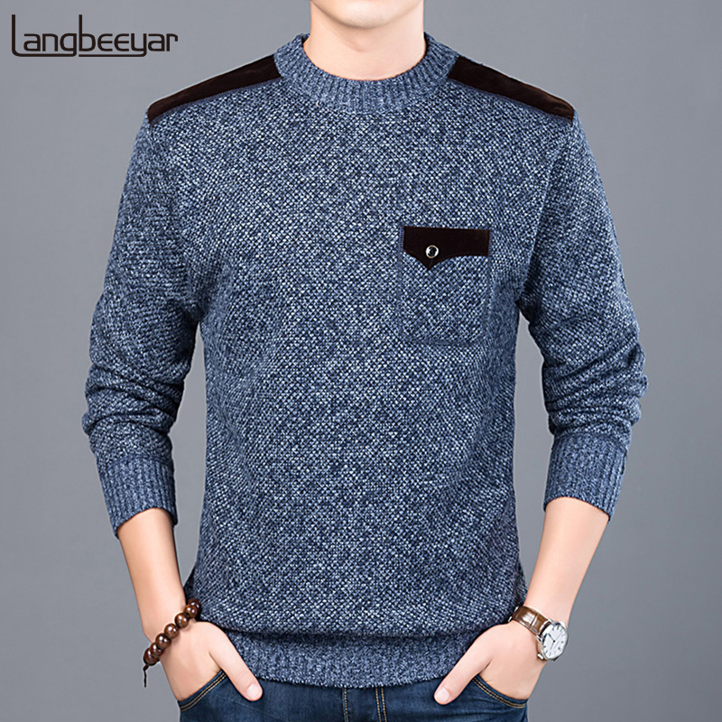 2020 New Fashion Brand Sweater For Mens Pullovers Slim Fit Jumpers Knitwear O-Neck Autumn Korean Style Casual Clothing Male(China)