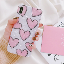 Pink Heart Dream Shell Case Capa For iPhone XS XR XS Max X 6S 7 8 Plus Soft IMD Full Body Phone Back Cover Gift For Lover  Coque té russ dream lover