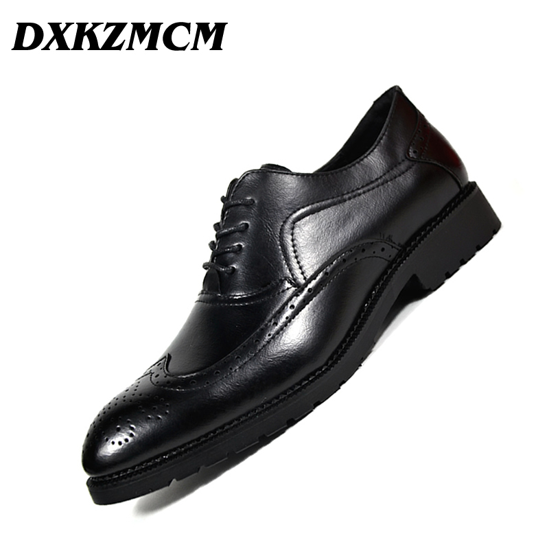 Men Formal Shoes Microfiber Leather Bullock Men Flats Shoes British Style Men Oxfords Fashion Dress Shoes For Men snake pattern men genuine leather shoes fashion men oxfords shoes increased british style goodster handmade men leather shoes