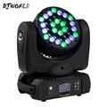DJWorld DMX512 сценический свет профессиональный эффект светодиодный луч 36x3 Вт RGBW движущийся головной свет с 9/16 канальным линейным затемнением