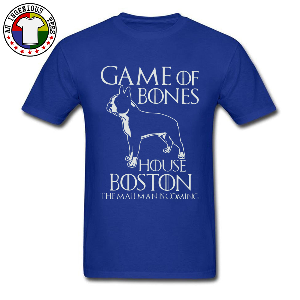 Game of bones house bosto24521 Tees Brand O Neck Slim Fit Short Sleeve 100% Cotton Fabric Mens Top T-shirts Unique Tops Tees Game of bones house bosto24521 blue