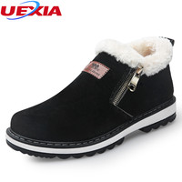 UEXIA Winter Men Boots Plush Warm Winter Shoes Men Fashion Fur Boots Loafers Designer Casual Shoes
