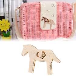 Новые модные 1 шт. лошадь форма металлическая застежка Включите замок поворотные замки для DIY сумочка,сумка, кошелек аппаратные средства