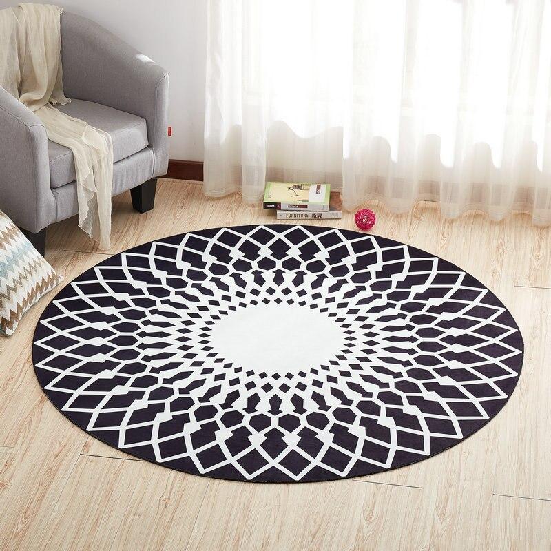 Круглый ковер, коврик для двери, современные ковры для гостиной, ковер для спальни, Противоскользящий коврик для пола, домашний текстиль - Цвет: Color F