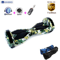 Self Balancing Skateboard Hoverboard Two Wheels Smart Electric Scooter With Bluetooth Speaker LED Light Kick Electric
