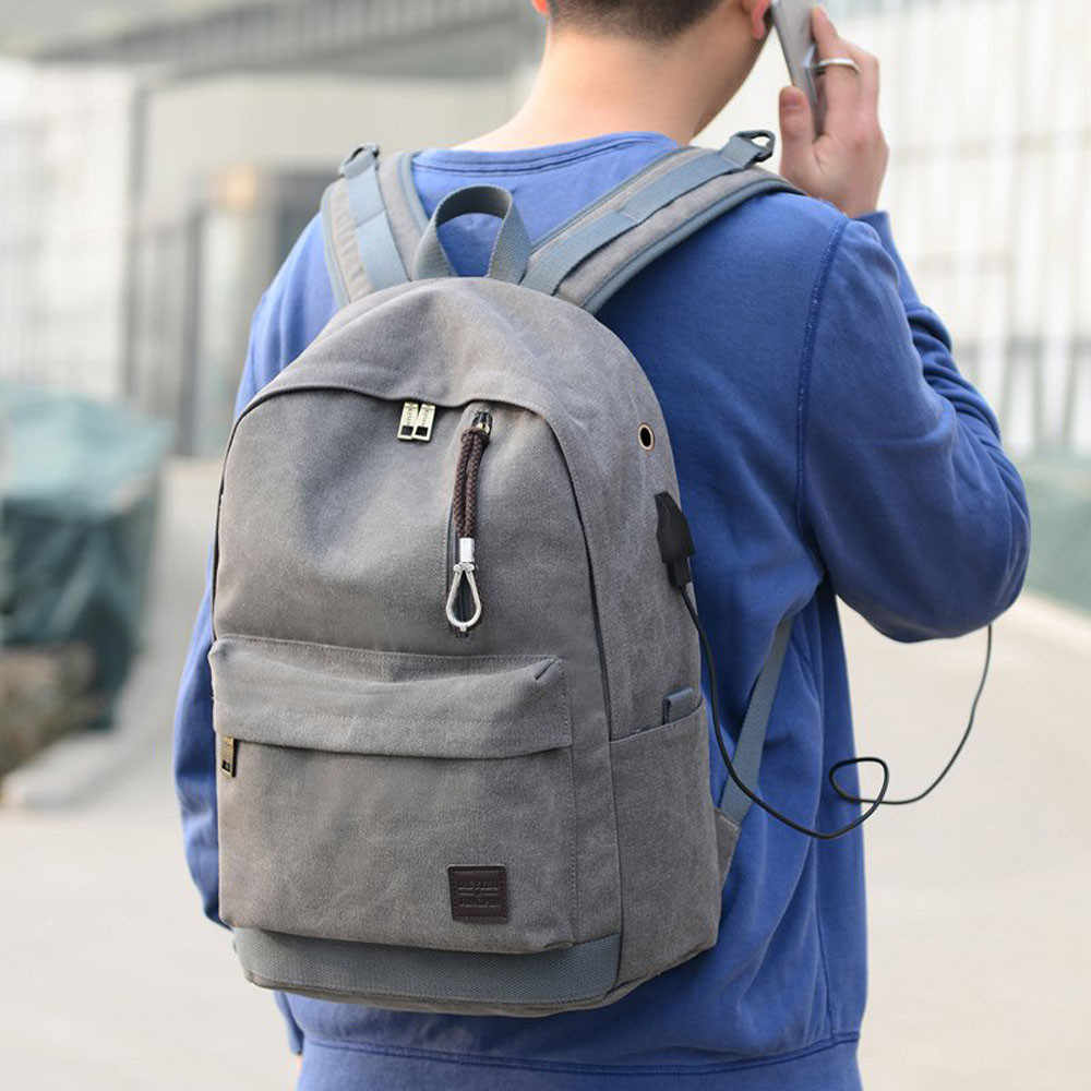0314ac2471 Student Boy Laptop Backpack School Bag School Backpack Men Woman Travel Bag  Dropshipping Zaino da uomo