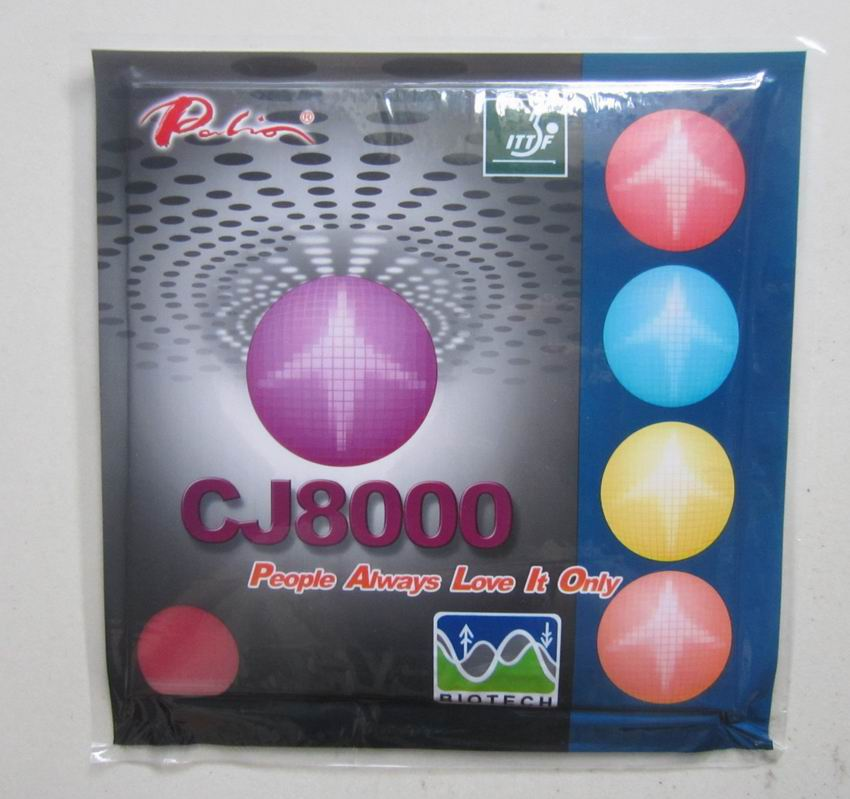 Original <font><b>Palio</b></font> long term <font><b>CJ8000</b></font> <font><b>BIOTECH</b></font> (2-Side Loop Type) Pips-In Table Tennis Rubber With Sponge for PingPong Racket image