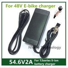 48V Đầu Ra Sạc 54.6V2A Xe Đạp Điện Sạc Pin Lithium Cho 48V Kugoo M4 Kugoo X1 M4 Pro Tốc mini 4 Pro