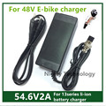 54.6V2A  electric bike  lithium battery charger  for  48V lithium battery pack  3 pin female connector XLRF XLR 3 sockets