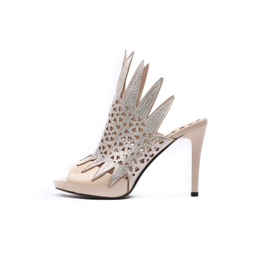 Mince 9 Peep Haute Femme Initiale Femmes Strass Ef11881 3 Noir Sexy Toe Parti Talons Dames Us Pompes Chaussures L'intention Taille ef11882 Black Nu Nude q0w8nHXw