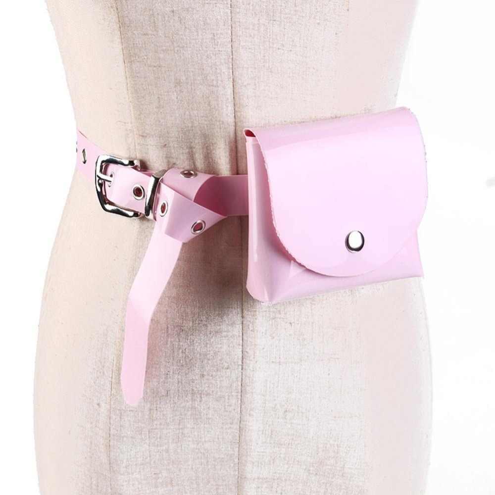 Verano bolsa de cinturón transparente holograma riñonera para mujer y hombre bolsa de cintura transparente láser divertido bolsa holográfica bolsa de cinturón bolsa de pecho