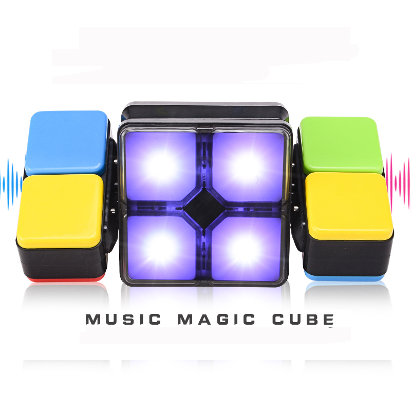 2018 Hot Magic Cube Flip slide Puzzle Toy Magic Square With Light Memory Game For Kid Newest Fold Slide Cube 4 Mode Play цена