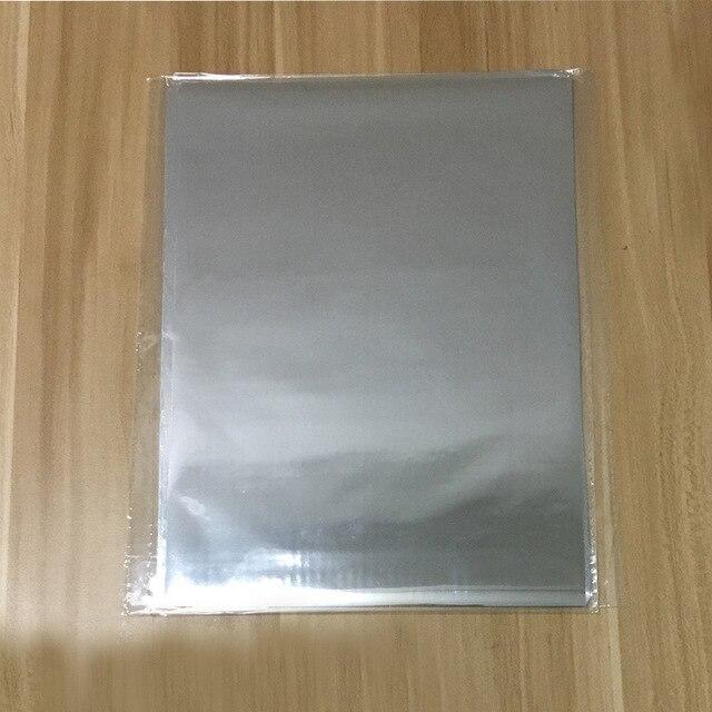 50 шт. золотой черный красный горячего тиснения фольги бумажный ламинатор для ламинирования переноса на элегантность лазерный принтер бумага для рукоделия 20x29 см A4 - Цвет: Silver