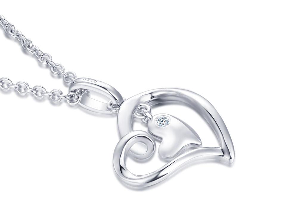 silver diamond pendants CAP03749SA-1 (15)