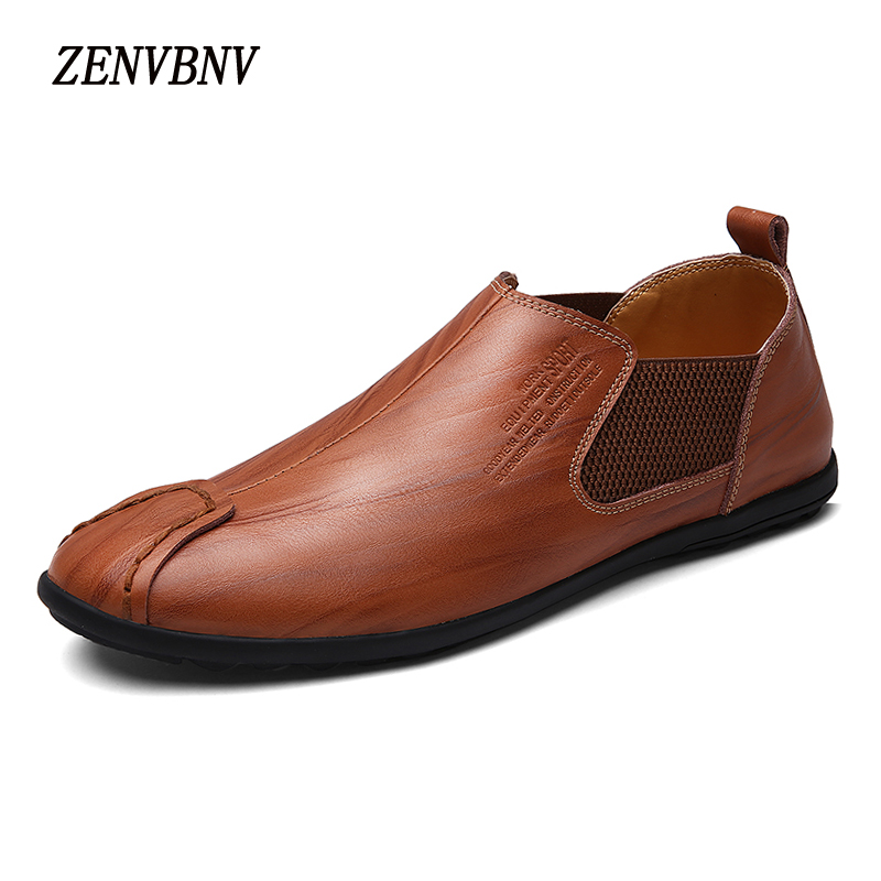 ZENVBNV Men Casual Shoes Fashion Genuine Leather Slip On Men Shoes Breathable Loafers Moccasins Comfortable Men's Flats Loafers 2017 new men loafers summer fashion men casual leather d shoes comfortable men flats non slip breathable shoes
