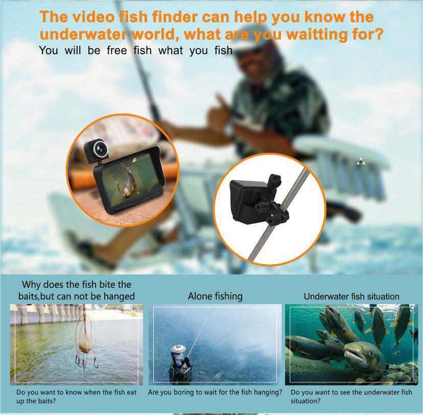 HD Underwater Video Camera System with 4.3 LCD Monitor 4000mAh Battery Built-in & 20M 2MP Fishing Camera and AHD Camera on LCD_18