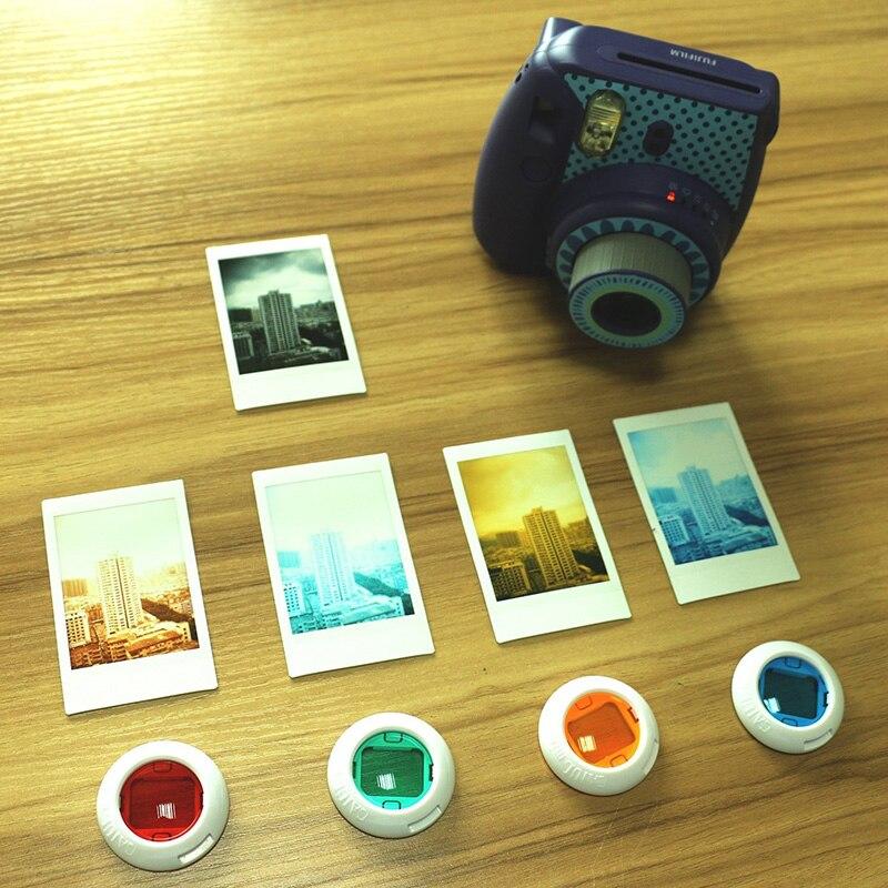 4Pcs Instax Mini Close Up Lens Filter Set Colorful for Fujifilm Instax Mini 8 8 9