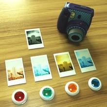 4 Шт. Мини Instax Макро Объектив Фильтр Набор Красочных для Fujifilm Instax Mini 8 8 + 9 7 s