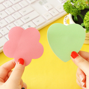 Creative Post Colour Self Stick Notes Self-adhesive Sticky Note Cute Notepads Posted Writing Pads Stickers Paper 100 Sheets/pad