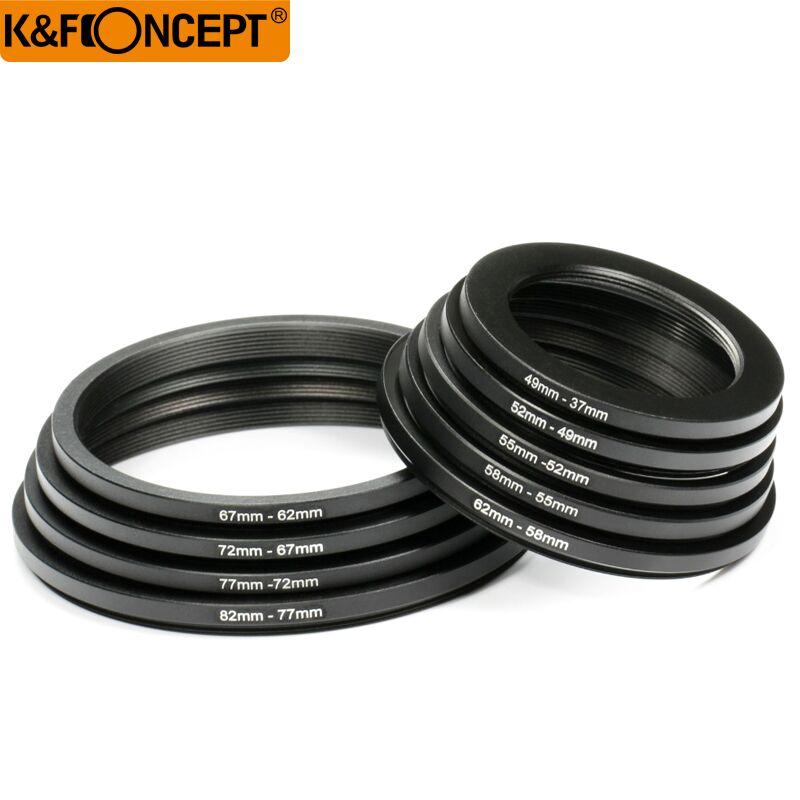 K&F konsepsiyası 18pcs 37-82mm 82-37mm Lens Yuxarıdakı Ring Filter - Kamera və foto - Fotoqrafiya 2
