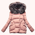 Parka Women Snow Coat with pocket women hooded Feather Jacket Women 2016 Winter Women Jackets Coat Cotton Full Sleeve