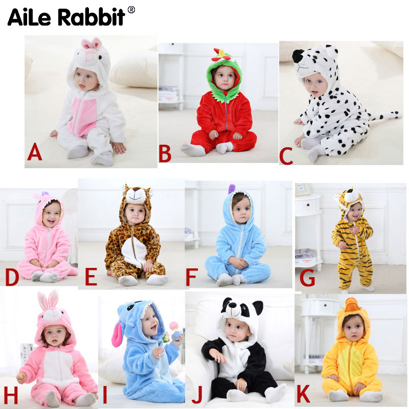 4ac06bc17af1f US $11.68 AiLe Rabbit 2018 baby jumpsuit boys and girls newborn ...