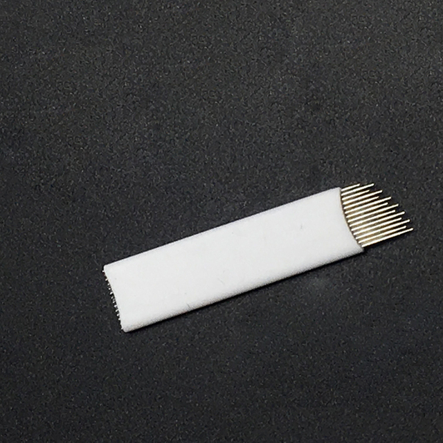 Wave  14 Pins Permanent Makeup Eyebrow Tatoo Blade Microblading Needles  Wire drawing eyebrow needle For Tattoo Manual 2