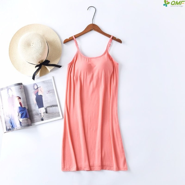 a4566fb6b39b2 Modal Adjustable Bra Padded Tank Top Women Colorful Camisole Summer Camis  Breathable Night Sleepwear Solid Casual Basic Shirt