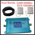 980 model  dual band booster complete kits w/ cable & antennas,GSM 900Mhz +DCS 1800Mhz booster mobile phone dual band repeater