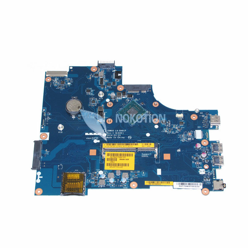NOKOTION brand new CN-0Y3PXH 0Y3PXH laptop motherboard For inspiron 15 3531 ZBW00 LA-B481P SR1W2 N3530 CPU Onboard DDR3 815248 501 main board for hp 15 ac 15 ac505tu sr29h laptop motherboard abq52 la c811p uma celeron n3050 cpu 1 6 ghz ddr3