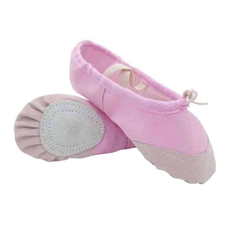 Zapatillas de Ballet suaves de lona zapatos de baile zapatillas de Yoga niños niñas mujeres zapatillas nuevas