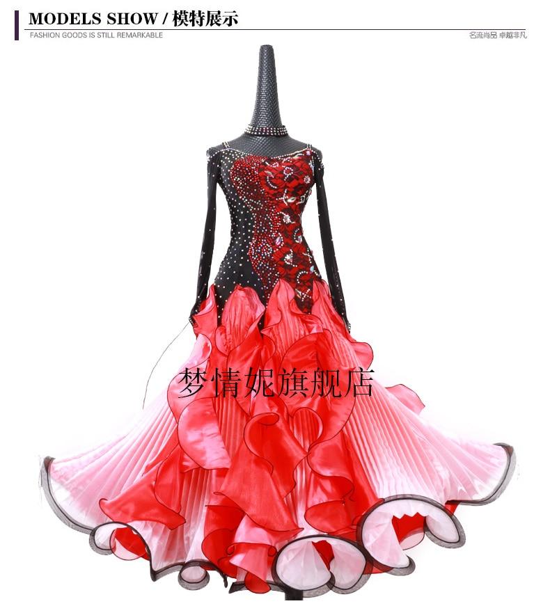 Handmade Dance Dress Standard Ballroom Competition Modern Waltz Tango latin