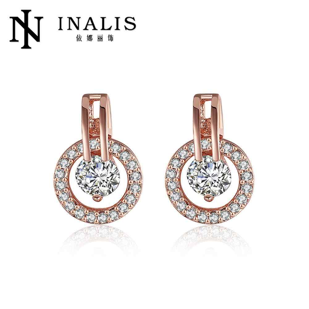 31ea18c6b INALIS White Bella Crystal Earrings For Women Real Crystal From Swarovski  Fashion Stud Earrings Party Jewelry