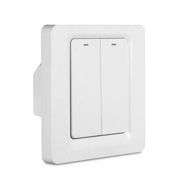 Tuya Smart leben app Control WiFi Licht 86 EU Taste Schalter Unterstützung Alexa Google Hause