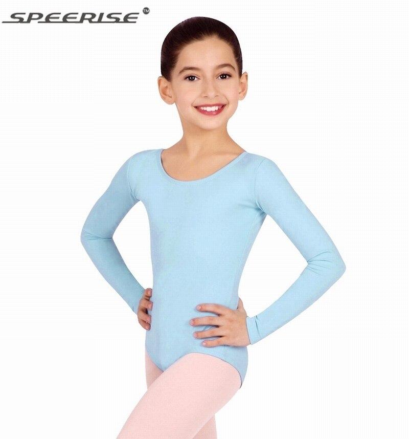 speerise Kids Long Sleeve Ballet Dance Leotard Dancewear for Child