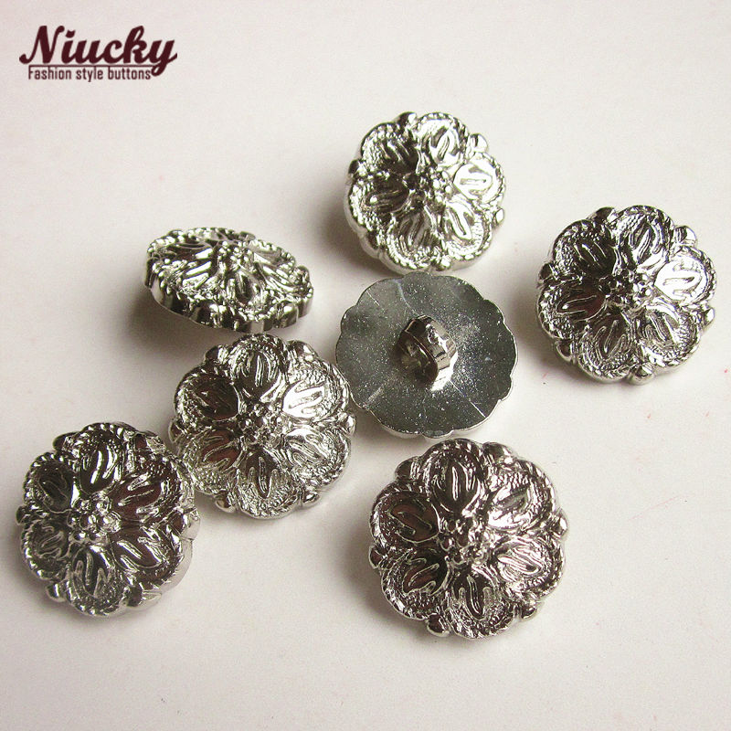 Niucky 17.5mm 11/16 High quality flower casual clothing buttons no nickel sewing accessories wholesale P0304-010