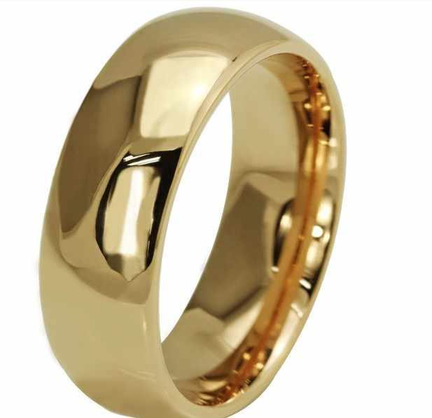 ที่มีคุณภาพสูงเป็นที่นิยมวินเทจชุบแหวนแหวนหมั้นงานแต่งงานสำหรับผู้หญิง/ผู้ชายสแตนเลสเครื่องประดับฟรีช้อปปิ้ง