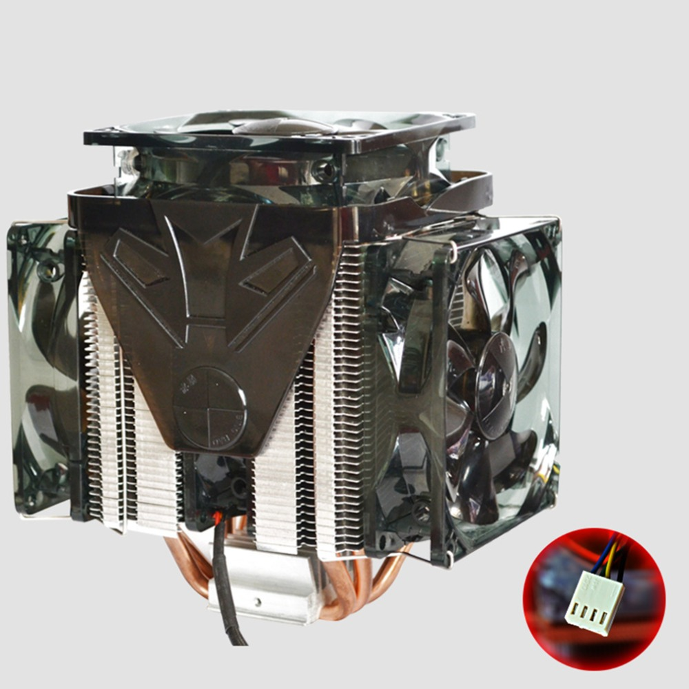 2500RPM 4 Wire Speed Regulation CPU Super Quiet Fans Cooling Fan oolers Heatsink for 3000 hours Drop Shipping computador cooling fan replacement for msi twin frozr ii r7770 hd 7770 n460 n560 gtx graphics video card fans pld08010s12hh