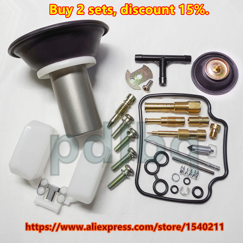 PD24J Carburetor Repair Repuild Kit GY6 125CC ATV Gokart Moped Scooter 22MM plunger (mest komplett konfigurasjon)
