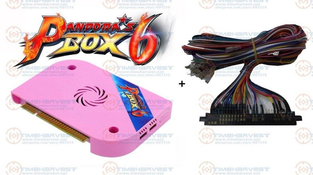 2018 nouvelle boîte Pandora d'origine 6 JAMMA Ver. JAMMA harnais 1300 en 1 jeux plateau CGA VGA HDM 720 P pour Arcade jeu Marchine armoire
