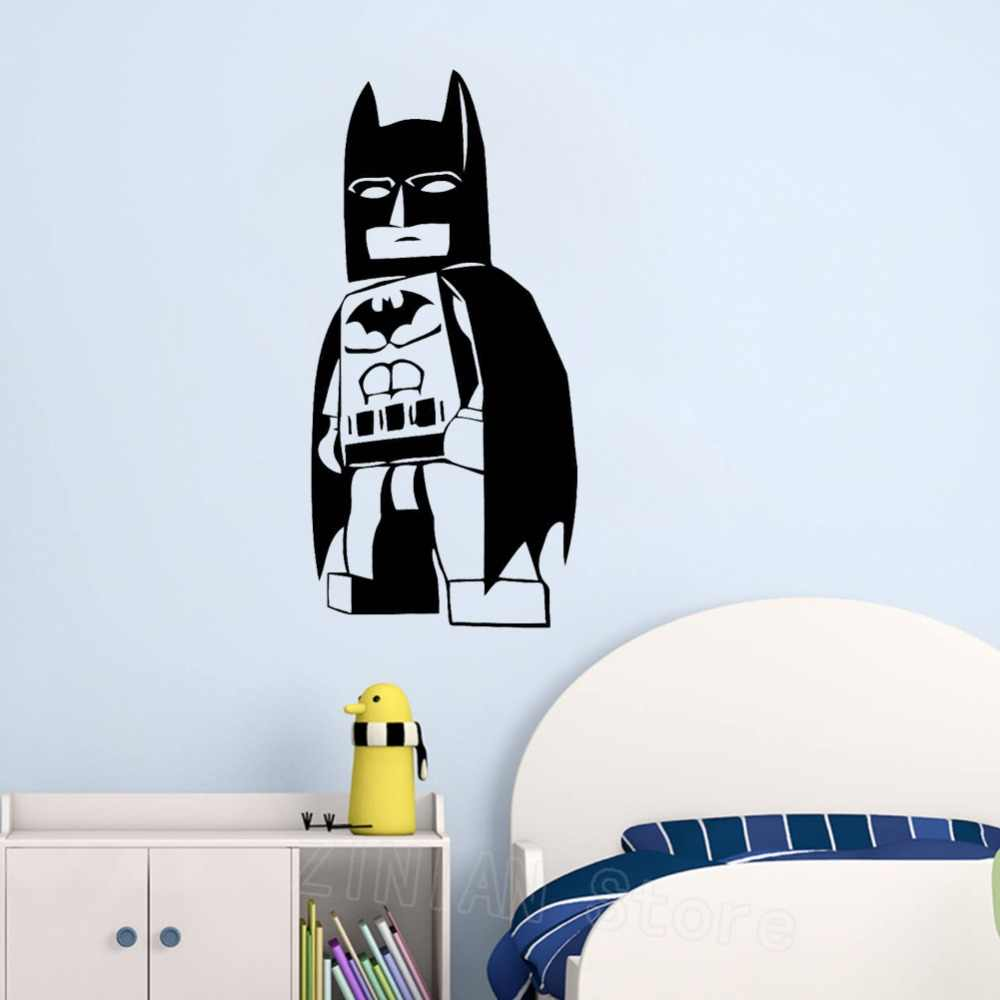 Lego batman wall decal baby superhero playroom decor vinyl wall art stickers wallpaper little boys room