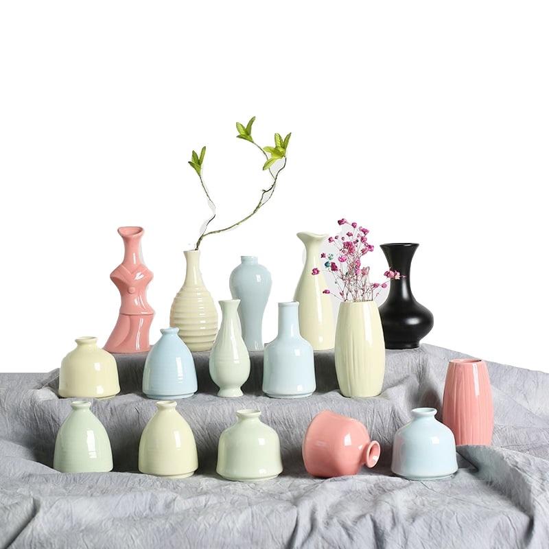 Ваза для цветов Офис Desktop Украшение стола Свадебные Керамика ваза украшения Гостиная Спальня обеденный стол ваза E $