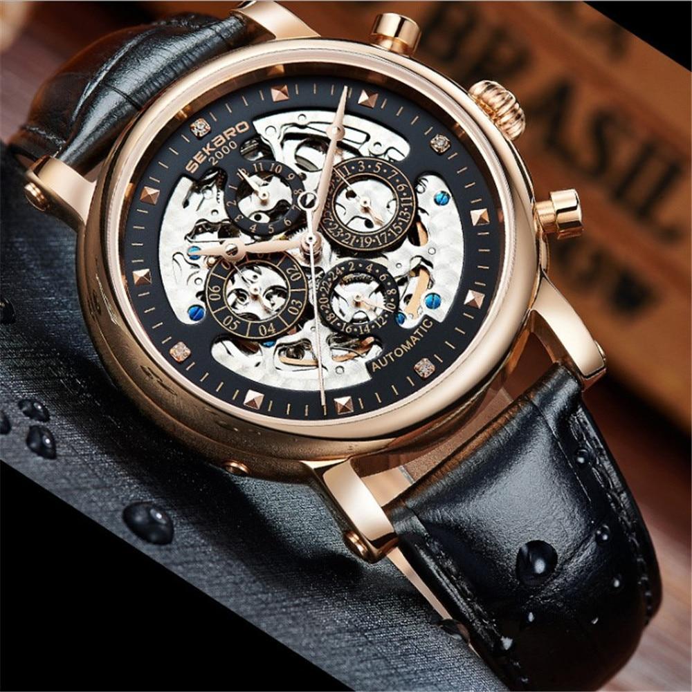 SEKARO para colorear Acero Inoxidable Multifunción 7 pines Relojes - Relojes para hombres - foto 3