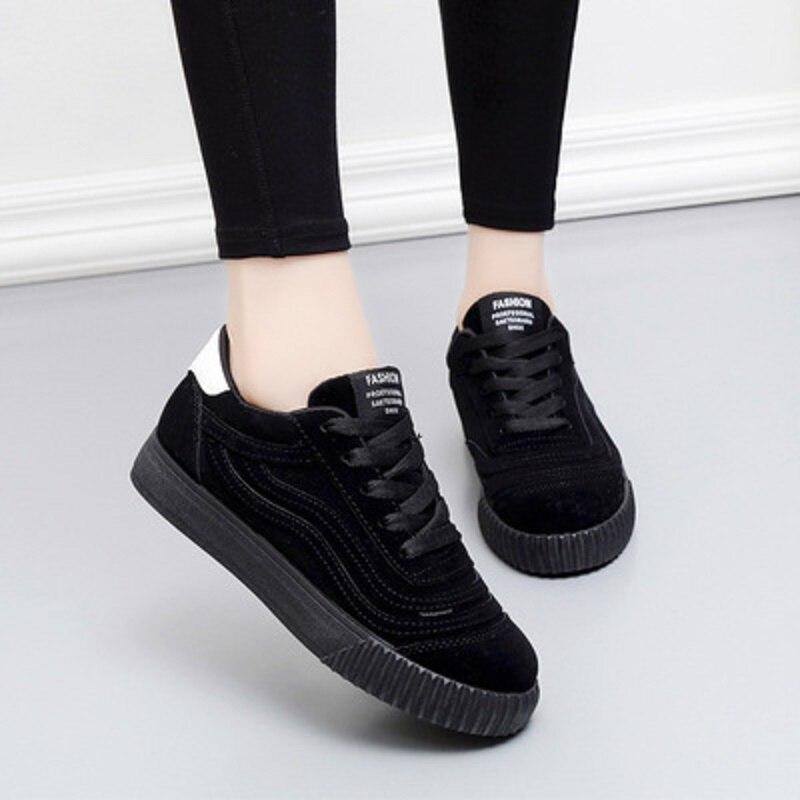 Mode Chaussures 1 2 2018 Plate Casual forme Femmes Dames Toile Vulcanisé De Awxqfx